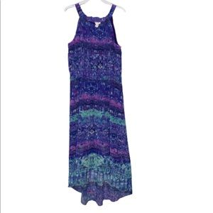 Chico's Purple/Blue Print Hi Low Dress
